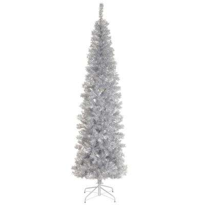 6 ft. Silver Tinsel Artificial Christmas Tree