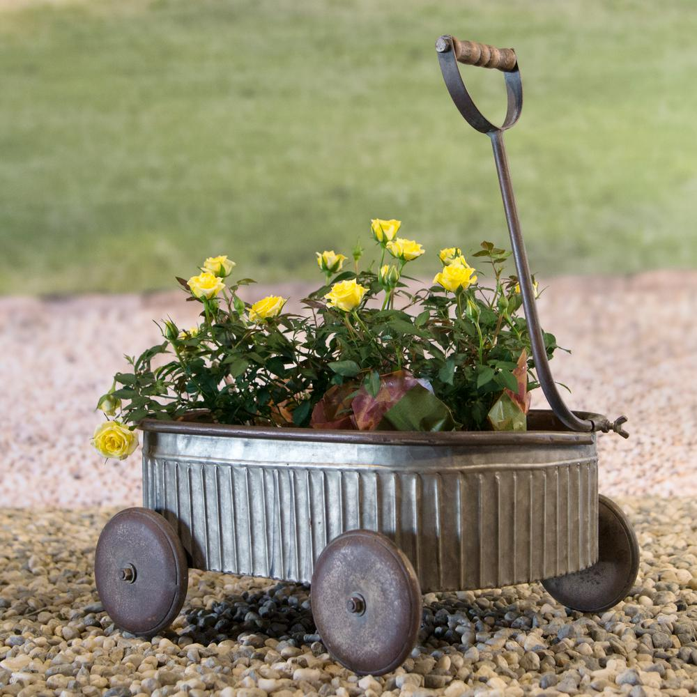 Small Metal Wagon with Handle-FH1684 - The Home Depot
