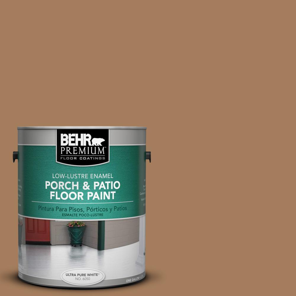 1 gal. #SC-158 Golden Beige Low-Lustre Interior/Exterior Porch and Patio Floor Paint