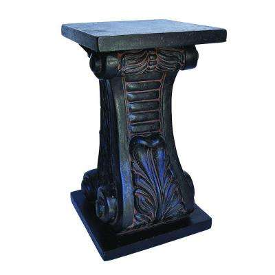 24 in. H Charcoal Cast Stone Classic Pedestal