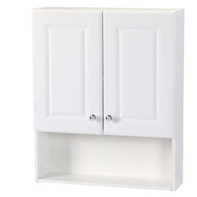 23 in. W x 28 in. H x 6-1/2 in. D Bathroom Storage Wall Cabinet with Shelf in White