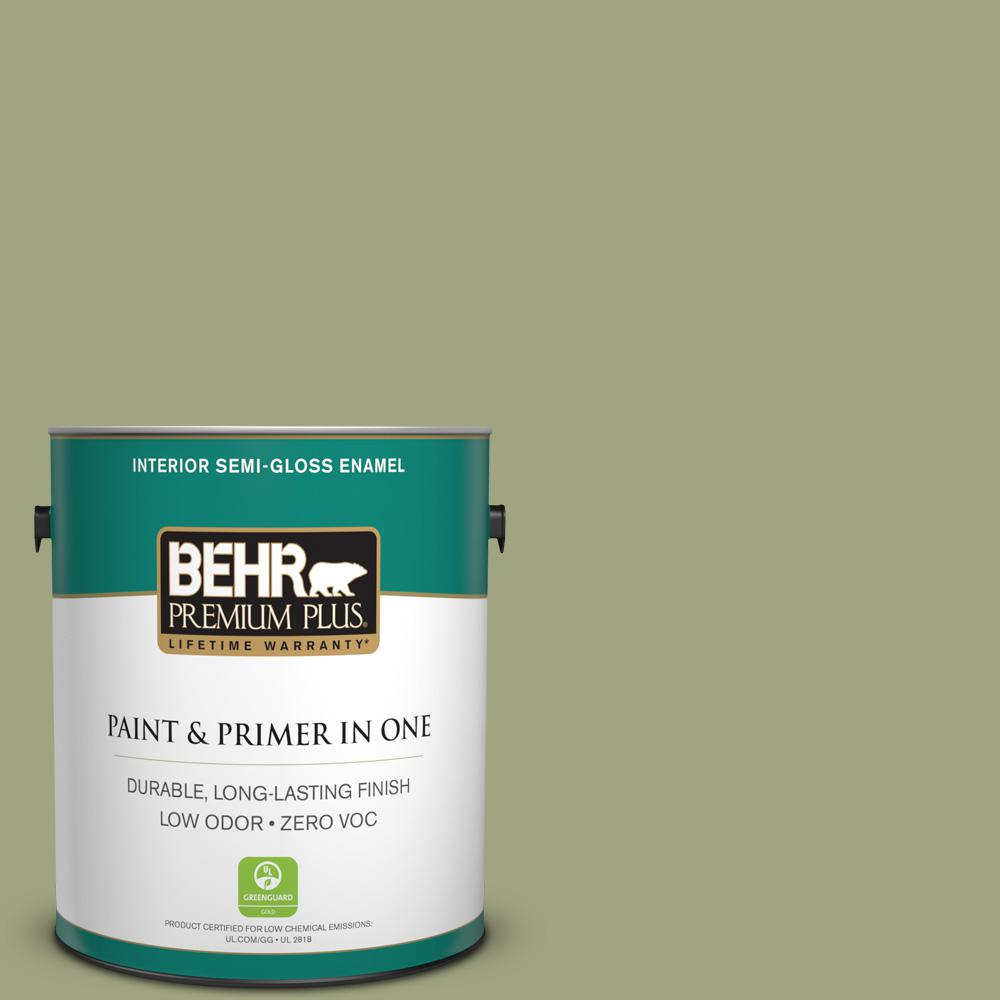1-gal. #410F-4 Mother Nature Zero VOC Semi-Gloss Enamel Interior Paint