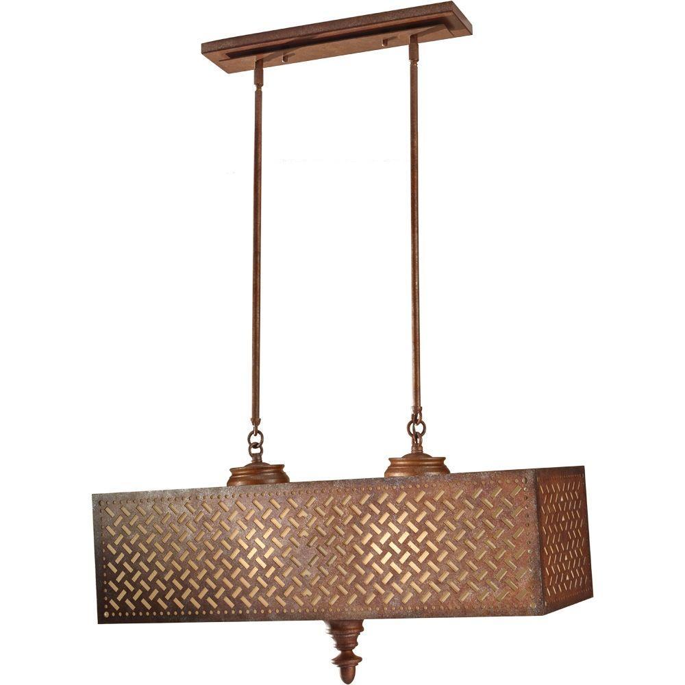 Feiss Kandira 4-Light Moroccan Bronze Billiard Lamp