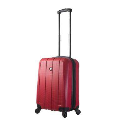 Tosetti 20 in. Red Hard Side Carry-On Spinner Suitcase
