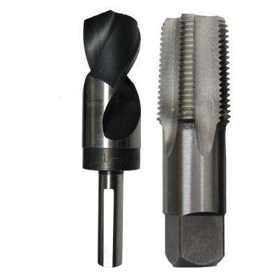 3/4 in. Carbon Steel NPT Pipe Tap and 59/64 in. High Speed Steel Drill Bit Set (2-Piece)