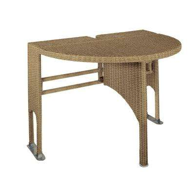 Genevieve Coffee Half-Oval Gate-Leg Patio Terrace Mates Table