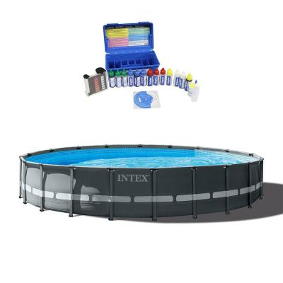 20 ft. x 48 in. Round Ultra XTR Frame Pool Set with Taylor Swimming Pool Water Test Kit