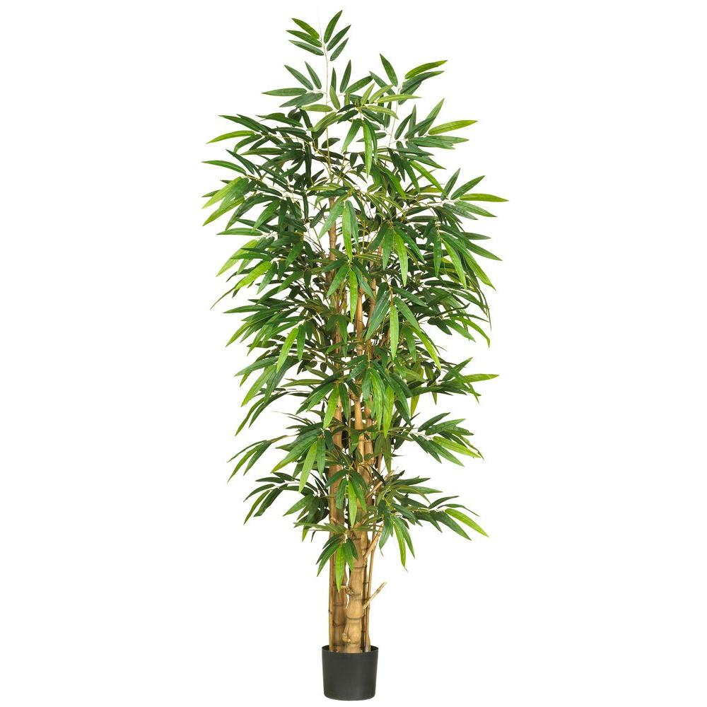 Nearly Natural 6 ft. Belly Bamboo Silk Tree Nearly Natural 6 ft. Belly Bamboo Silk Tree