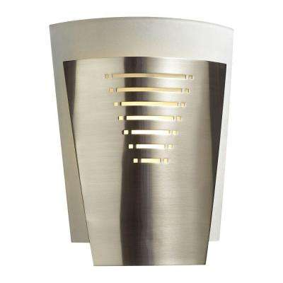 Contemporary Beauty 1-Light Satin Nickel Incandescent Sconce