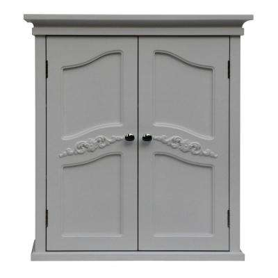 Venice 22 in. W x 24 in. H x 8 in. D Bathroom Storage Wall Cabinet in White