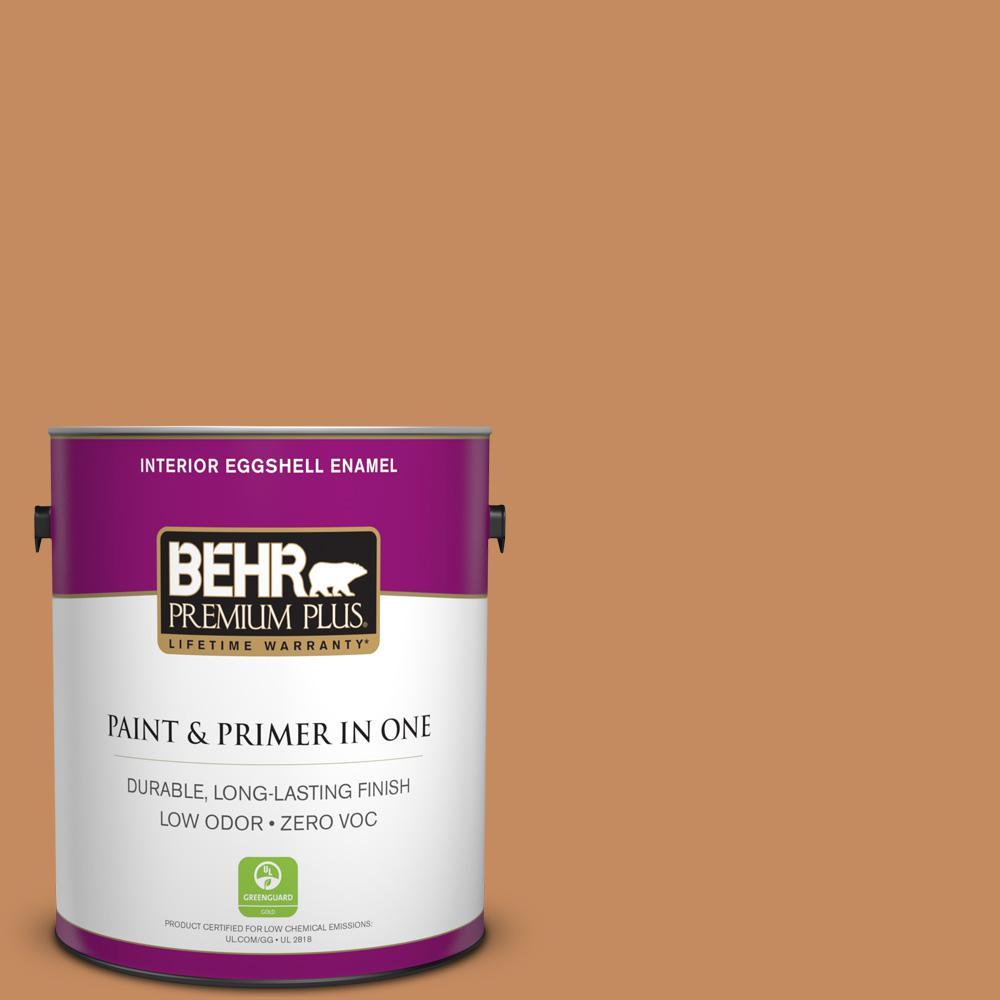 1 gal. #PPU3-13 Glazed Ginger Zero VOC Eggshell Enamel Interior Paint