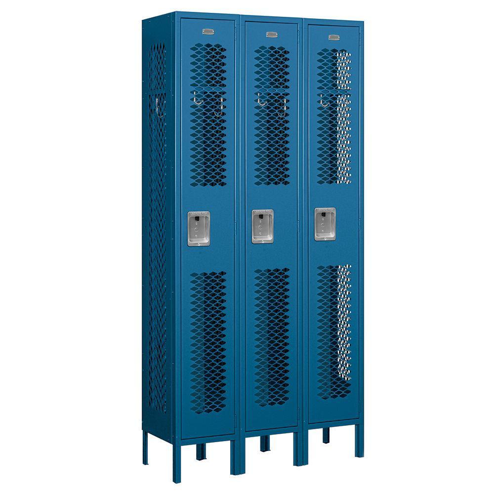 Salsbury Industries 71000 Series 36 in. W x 78 in. H x 12 in. D Single Tier Vented Metal Locker Assembled in Blue