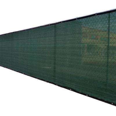 92 in. x 50 ft. Green Privacy Fence Screen Plastic Netting Mesh Fabric Cover with Reinforced Grommets for Garden Fence