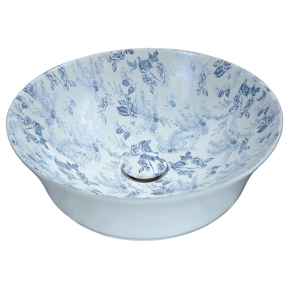 ANZZI Spanish Series Ceramic Vessel Sink in Blue-LS-AZ261 - The Home ...