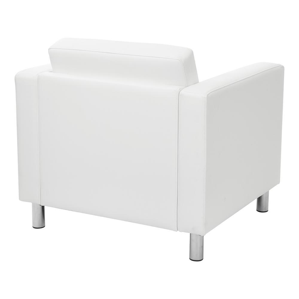 Astonishing Osp Home Furnishings Pacific Dillon Snow Vinyl Fabric Arm Machost Co Dining Chair Design Ideas Machostcouk