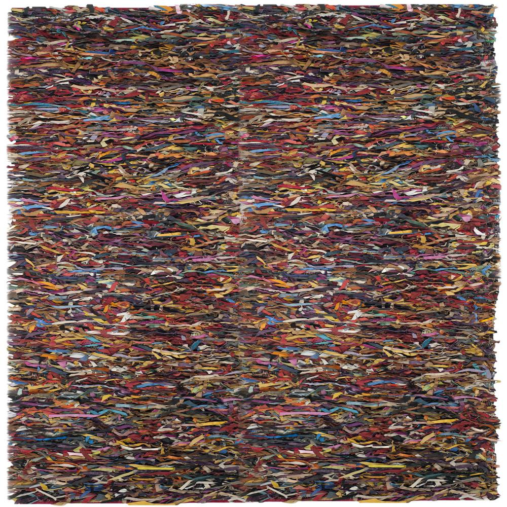 Safavieh Leather Multi 6 Ft X Square Area Rug