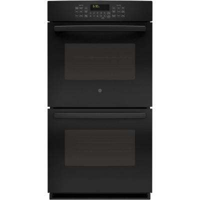 Profile 27 in. Double Electric Smart Wall Oven Self-Cleaning with Steam Plus Convection and WiFi in Black