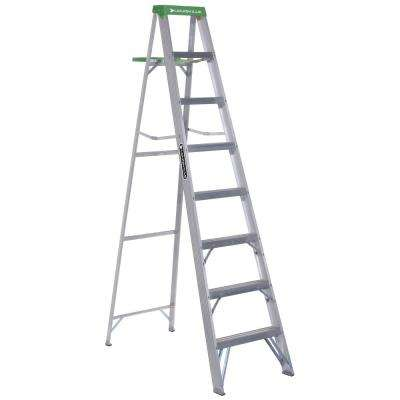 8 ft. Aluminum Step Ladder with 225 lbs. Load Capacity Type II Duty Rating