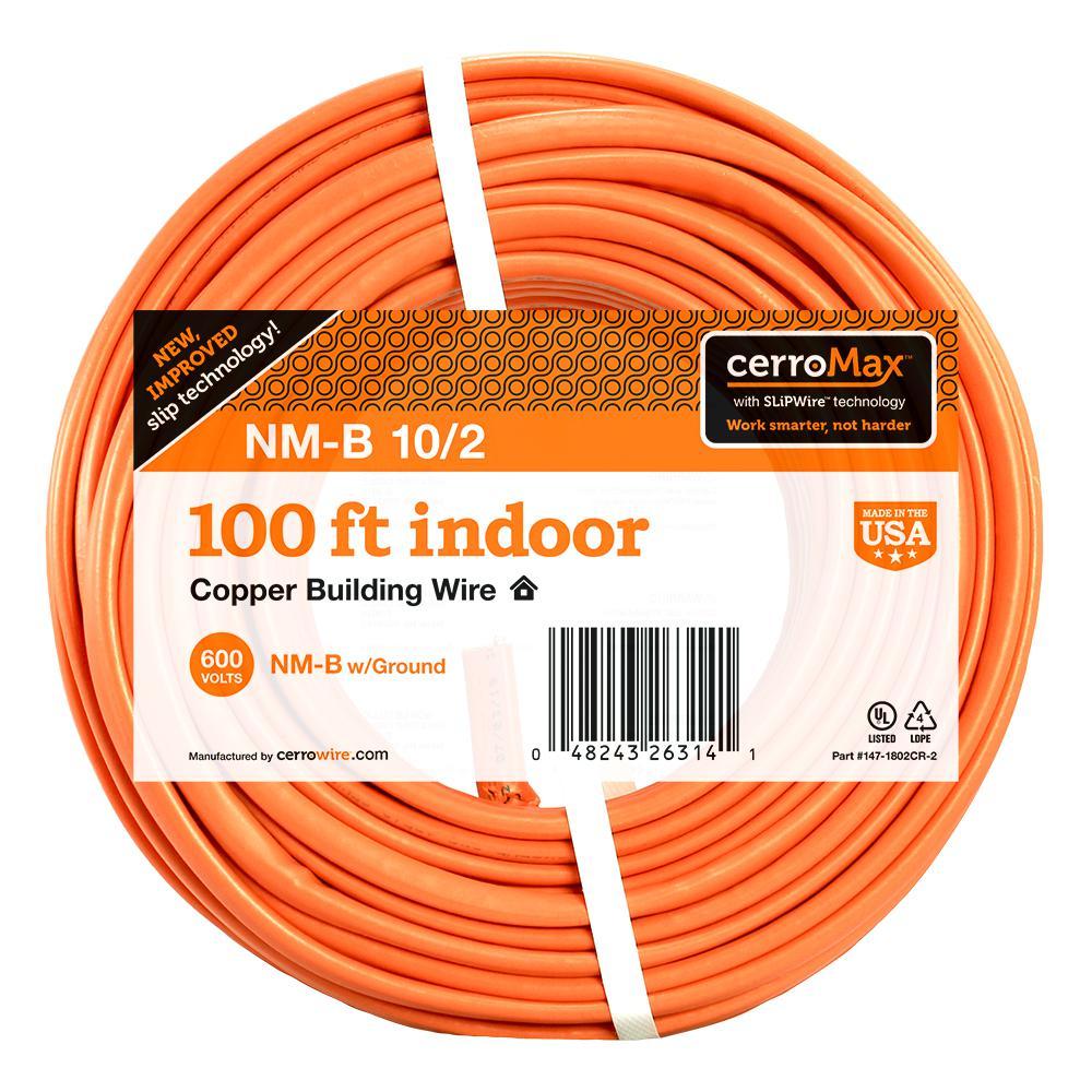 100 ft. 10/2 NM-B Wire, Orange