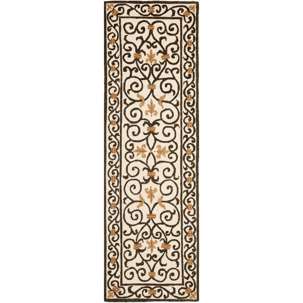 Chelsea Ivory/Dark Brown 2 ft. 6 in. x 10 ft. Runner