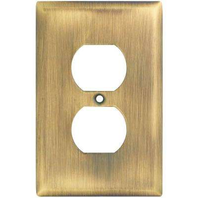 1 Gang Wall Plate - Antique Brass