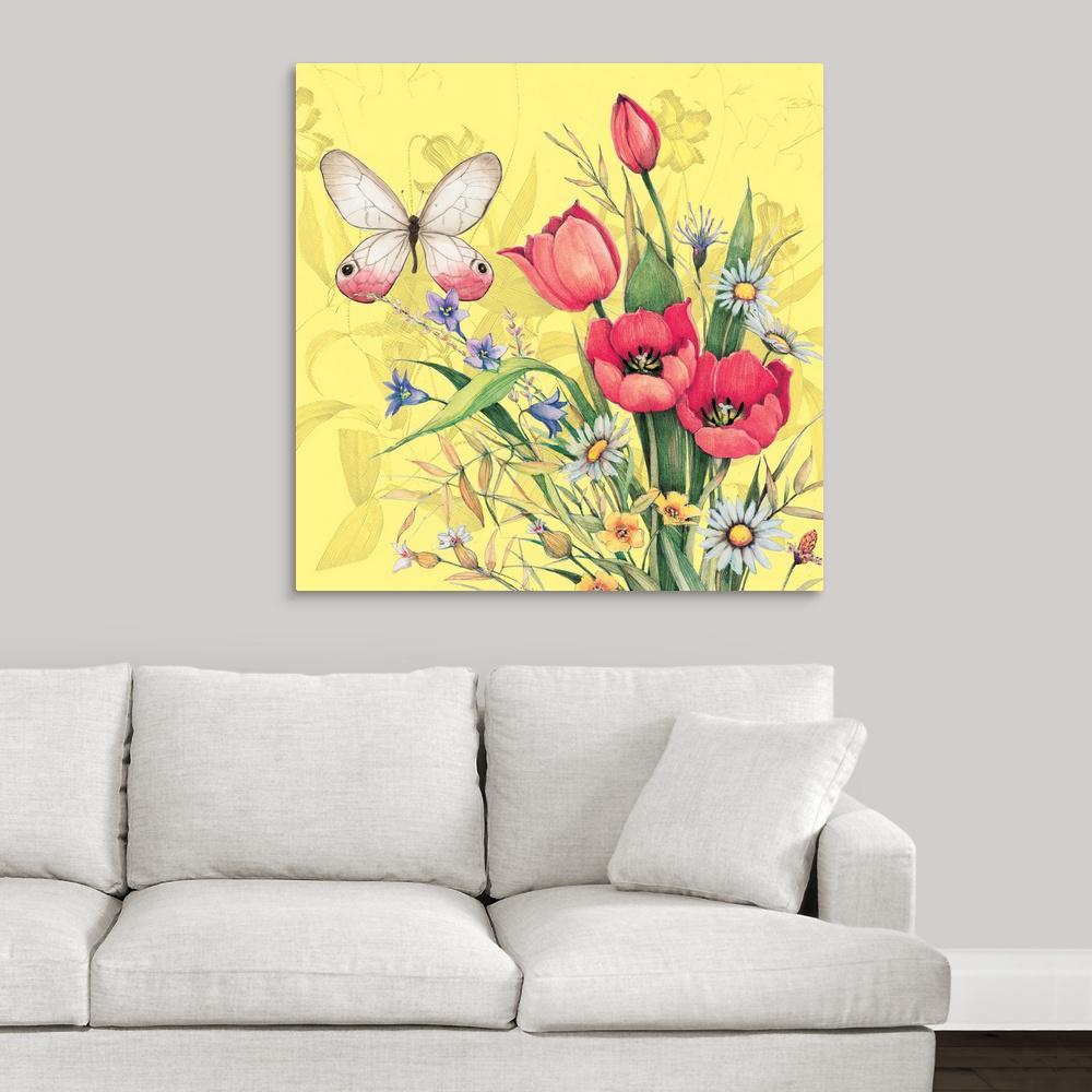Pinnacle Blooms in Mason Jar Floral Canvas Wall Art-1711-3406 - The ...