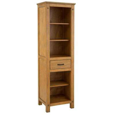 Avondale 20 in. W x 68 in. H Linen Cabinet in Weathered Pine