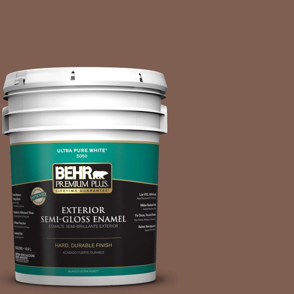 5-gal. #N160-6 Spanish Chestnut Semi-Gloss Enamel Exterior Paint