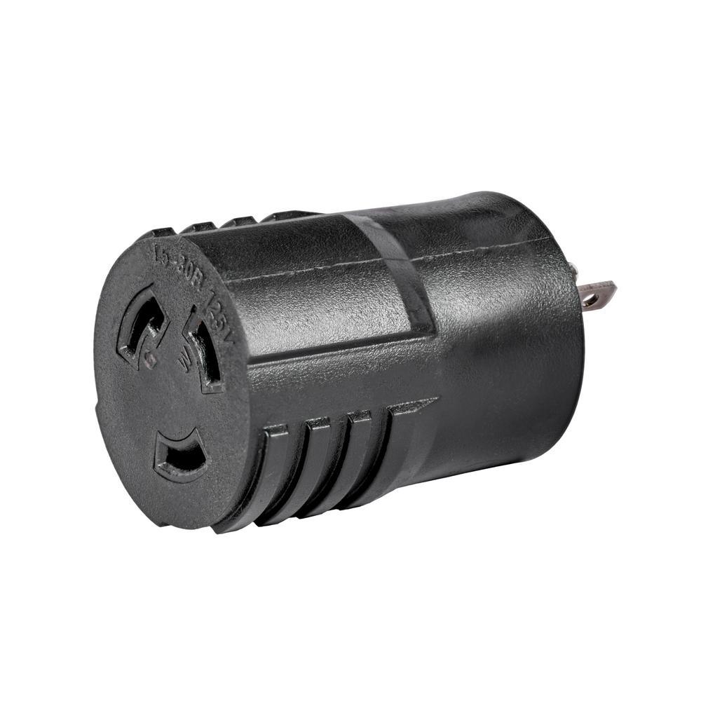 30 Amp 120-Volt 5-20P to L5-30R Generator Plug Adapter