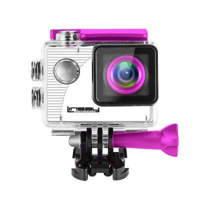Funny Kids Pink Action Camera Sport Outdoor Activities HD Video and Photos Micro SD Card Slot up to 32GB