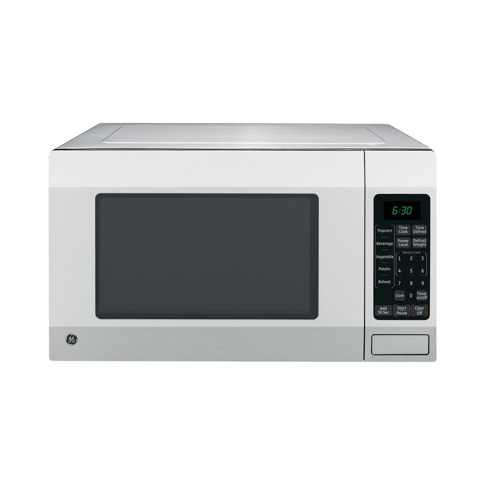 GE 1.6 cu. ft. Countertop Microwave Oven in Stainless Ste...