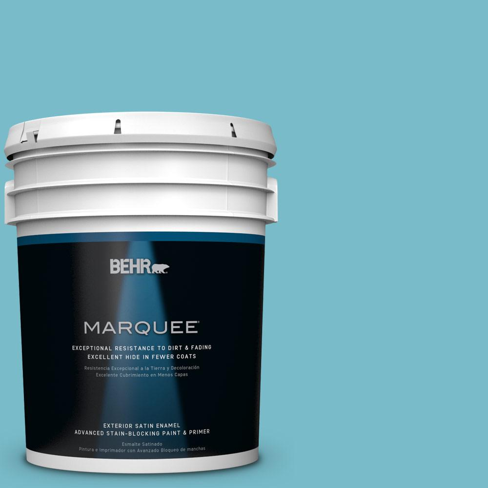 BEHR MARQUEE 5-gal. #M470-4 Azure Lake Satin Enamel Exterior Paint