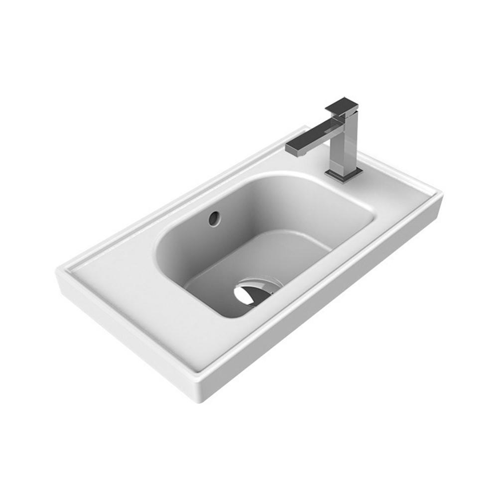 Nameeks Frame Wall Mounted Bathroom Sink in White-CeraStyle 001700-U ...