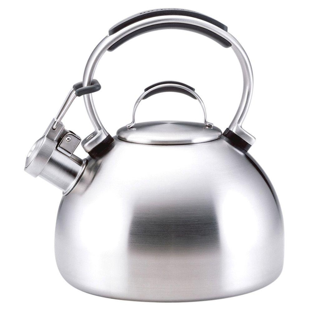 KitchenAid Gourmet Essentials 8-Cup Tea Kettle in Stainless Steel-DISCONTINUED