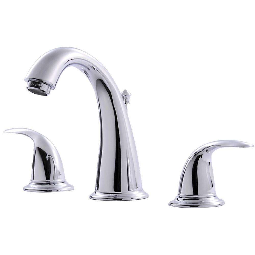 Ultra Faucets Vantage Collection 8 in. Widespread 2-Handle Bathroom ...