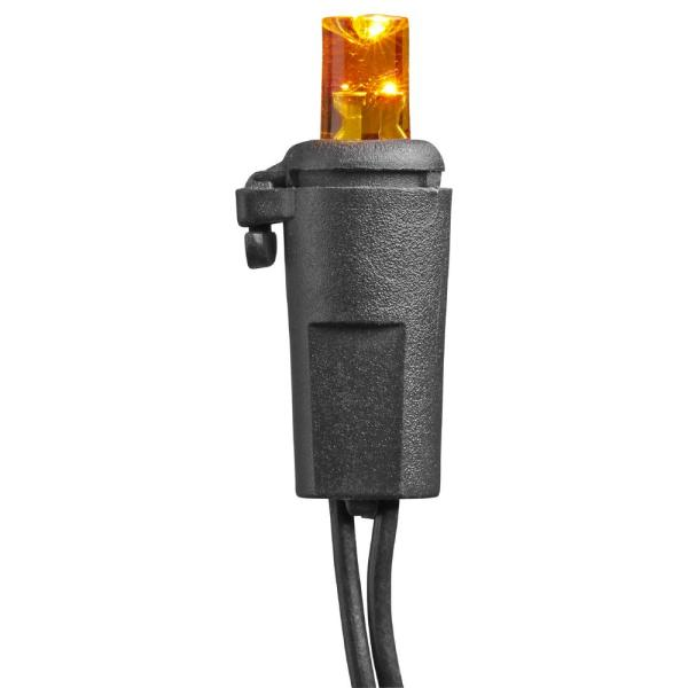 20 LED Orange Flashing Battery Operated Lights with Timer