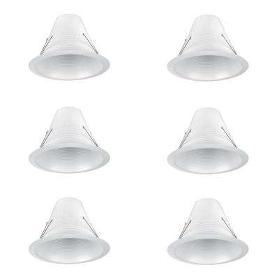 6 in. White Airtight Recessed Baffle Trim (6-Pack)