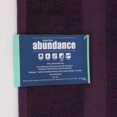 Abundance Cotton Blend  Bath Towel in Plum