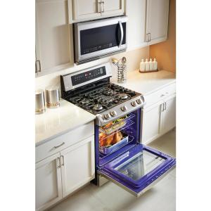 15 lg electronics 63 cu ft gas range with probake convection oven in stainless steel