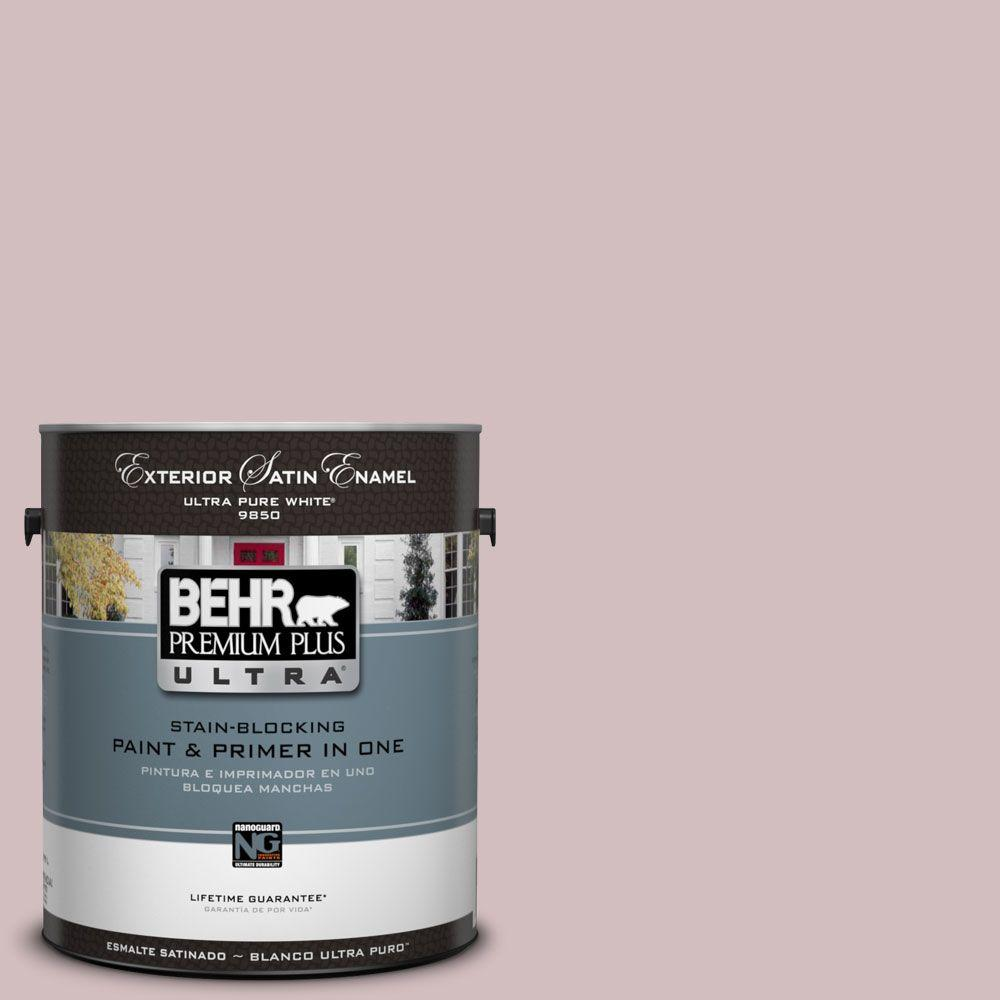 BEHR Premium Plus Ultra 1-Gal. #UL100-14 Embroidery Satin Enamel Exterior Paint-DISCONTINUED