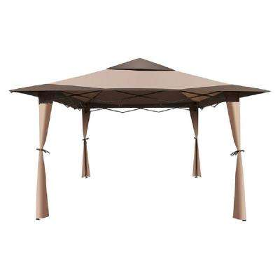 10 ft. x 10 ft. Brown Double Roof Canopy Gazebo
