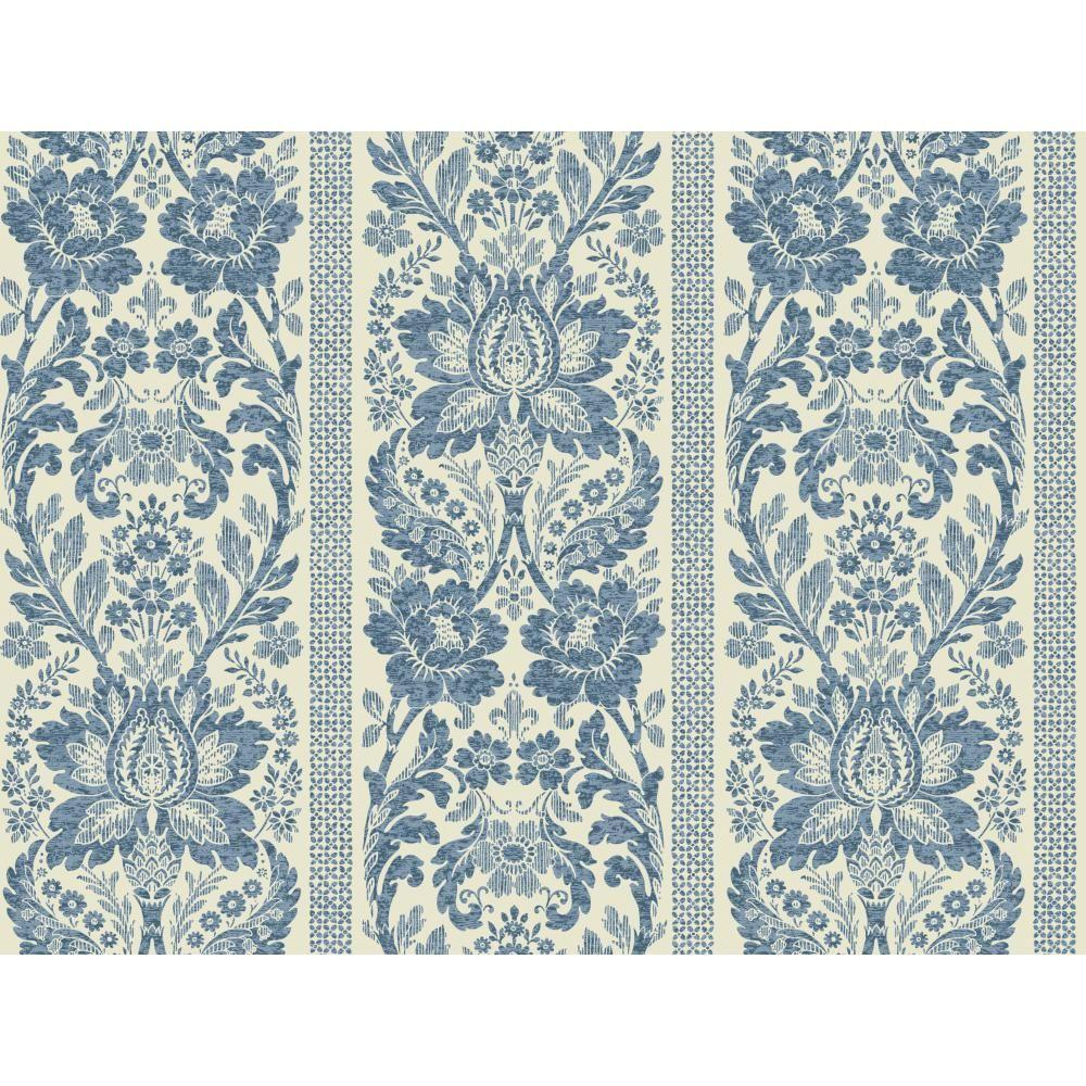 Floral Damask Stripe Wallpaper