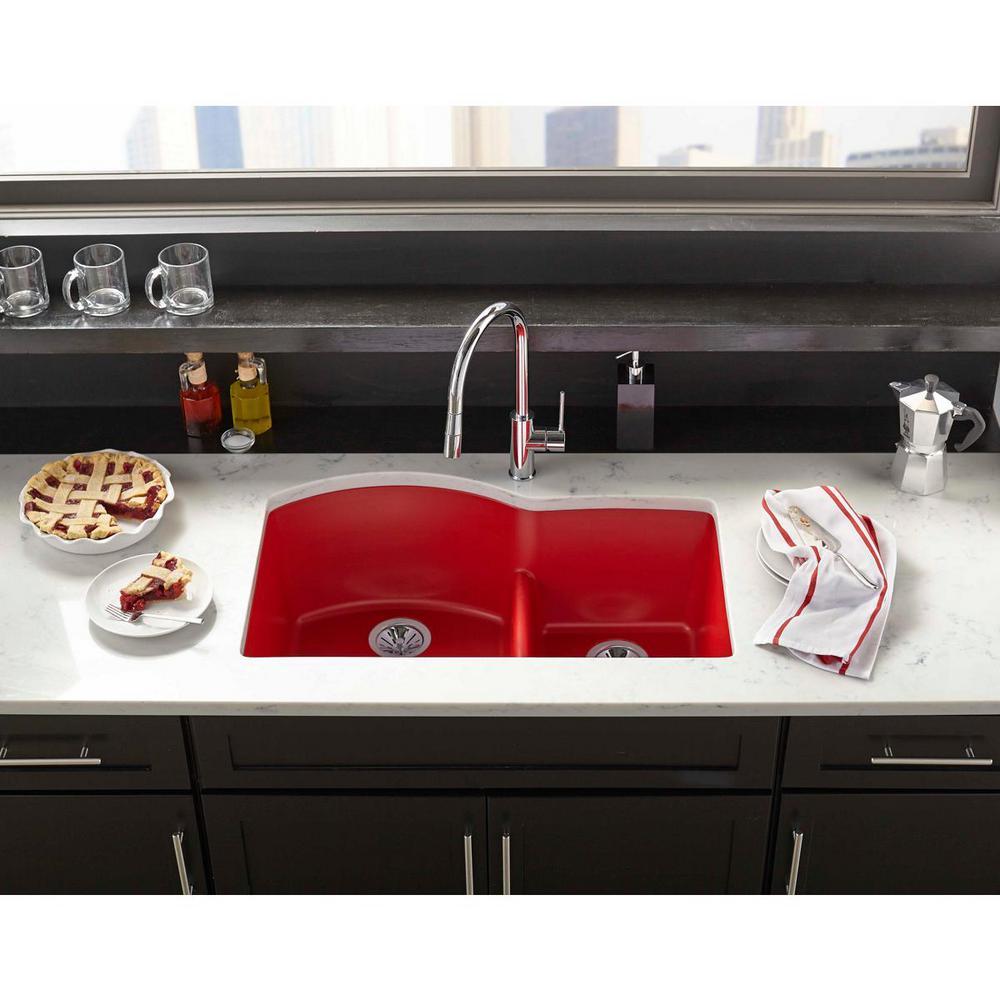 Granite Quartz Composite Red Undermount Kitchen Sinks Kitchen Sinks The Home Depot