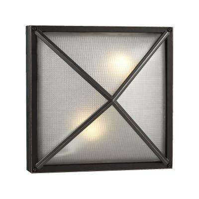 Contemporary Beauty 2-Light Outdoor Bronze Wall Sconce