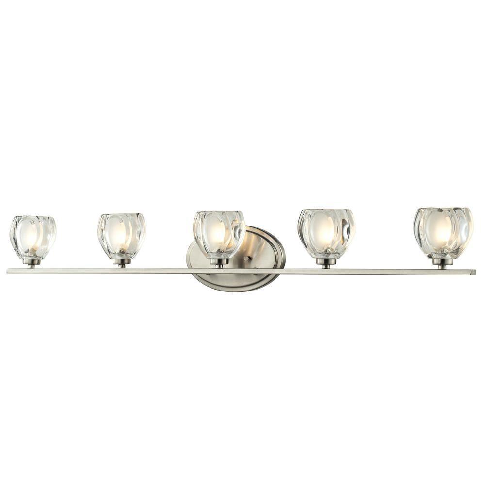 Filament Design Suave 5-Light Brushed Nickel Bath Vanity Light