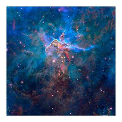 "47 in. x 32 in. ""Mystic Mountain in the Carina Nebula"" Tempered Glass Wall Art"