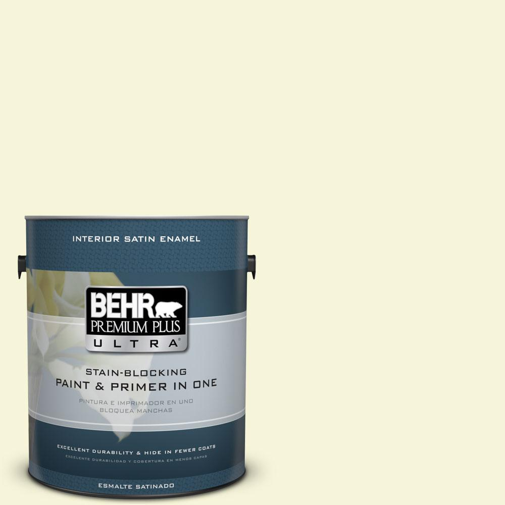 BEHR Premium Plus Ultra 1-gal. #PPL-10 Warm Sun Satin Enamel Interior Paint
