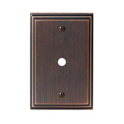 Mulholland 1-Cable Wall Plate, Oil-Rubbed Bronze