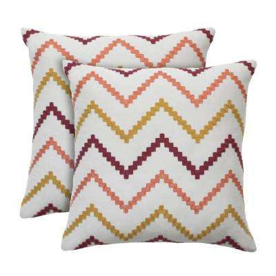 Wren 18 in. x 18 in. Sorbet Decorative Pillow (2-Pack)