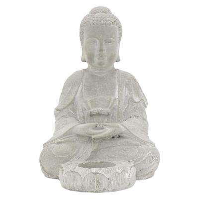 7.5 in. Buddha With Candle Hodler